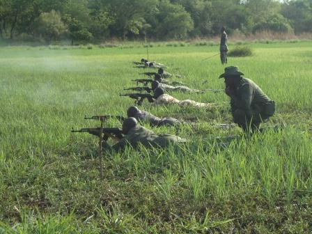 Firearms training in South Sudan