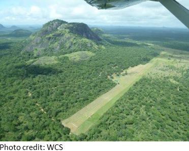 Niassa NR Headquarters from the air
